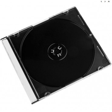 DVD slim case transparent black