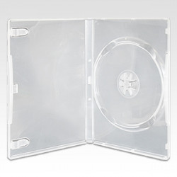 DVD plastic case semi-transparent