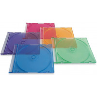 DVD slim case transparent colored