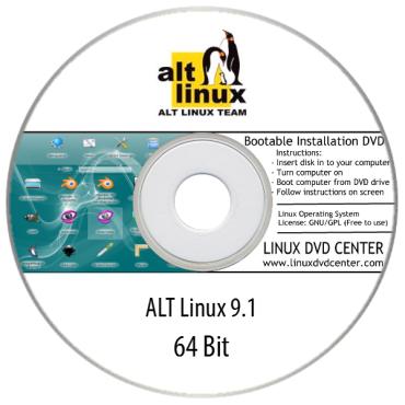 ALT Linux 9.1 WorkStation & Education (32/64Bit)
