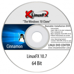 "LinuxFX 10.7 Live ""The Windows 10 Clone"" (64Bit)"