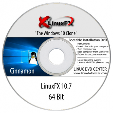 "LinuxFX 10.7 Live ""The Windows 10 Clone"" (64Bit)"