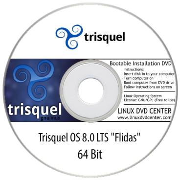"""Trisquel OS 8.0 LTS """"Flidas"""" (32/64Bit)"""