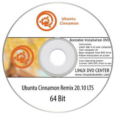"Ubuntu Cinnamon Remix 20.10 LTS ""Focal Fossa"" (64Bit)"